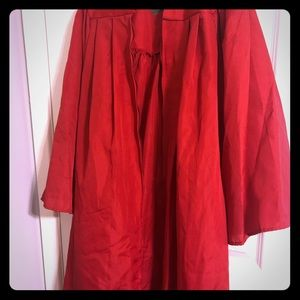Red graduation gown!!
